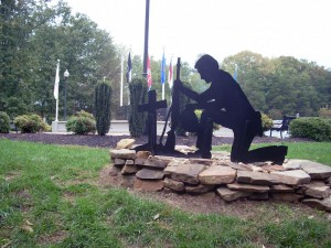 Former Veteran's Memorial in King, NC