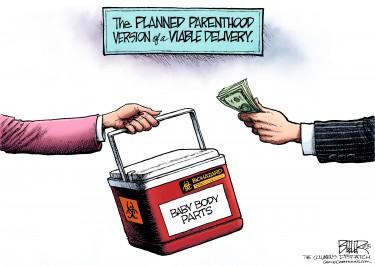 Planned Parenthood political cartoon
