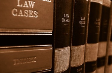 39206645 - law cases and law books on a shelf