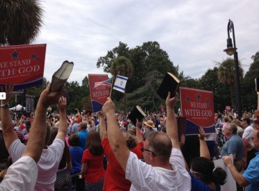 "The South Carolina ""We Stand With God"" Rally last month drew 10,000 people."